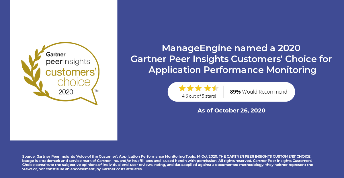 ManageEngine Applications Manager Gartner Peer Insights