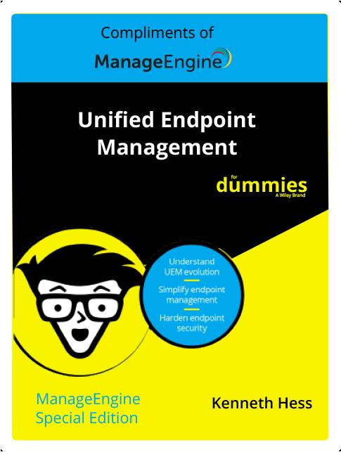 Edición especial de ManageEngine:  Gestión unificada de endpoints para Dummies