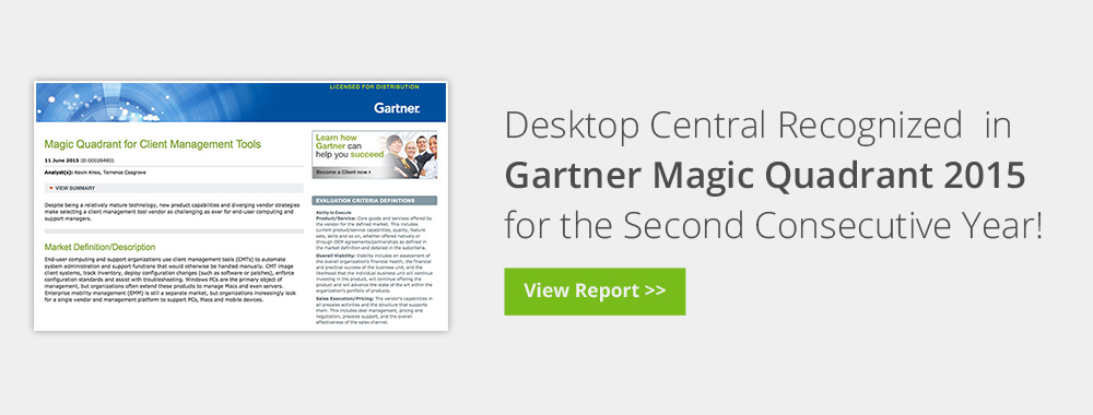 Gartner Magic Quadrant 2015