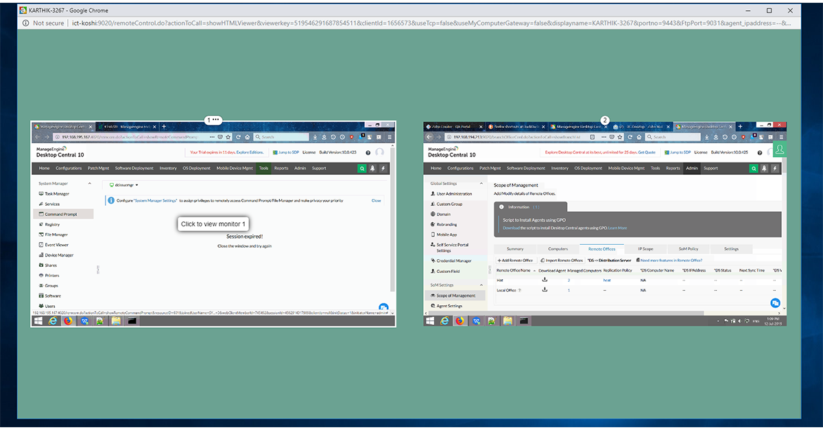 View and control multiple screens simultaneously with our desktop manager
