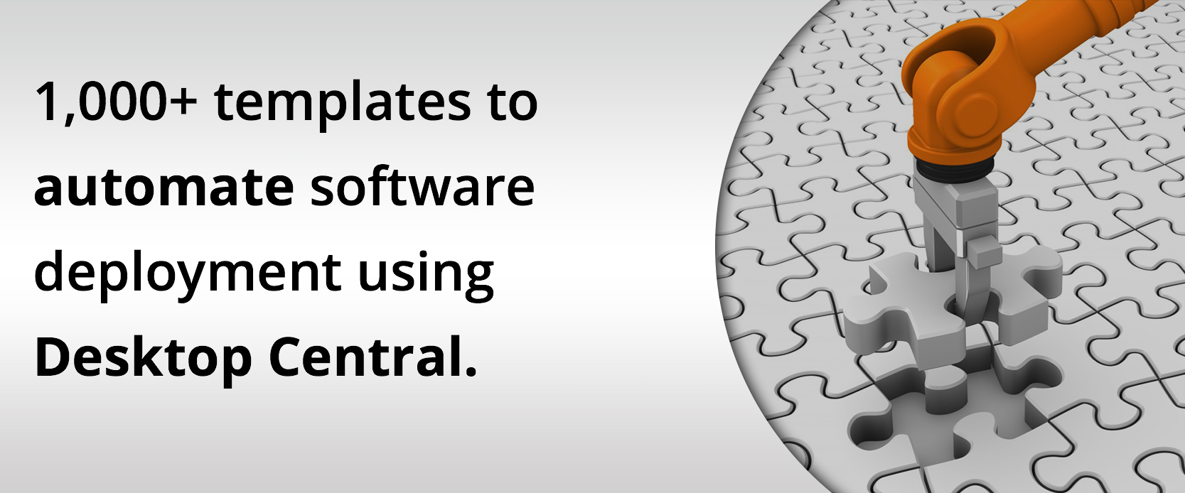 Banner plantillas automatizar implementacion de software ManageEngine Desktop Central