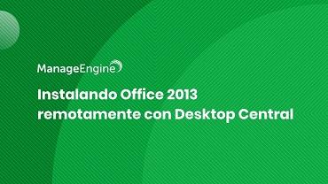 Miniatura video instalacion remota Office 2013 DC