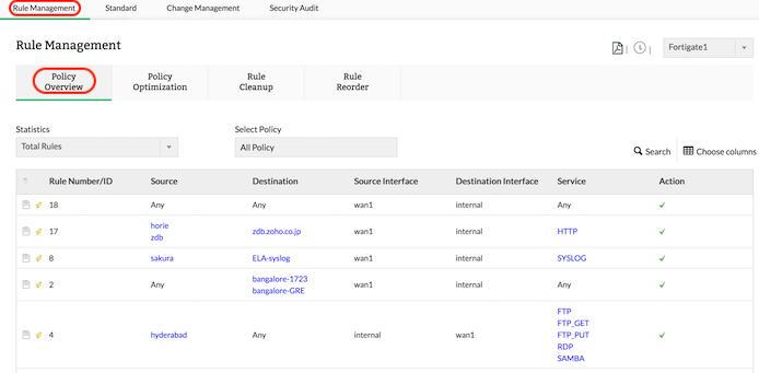Firewall Filter Rules - ManageEngine Firewall Analyzer