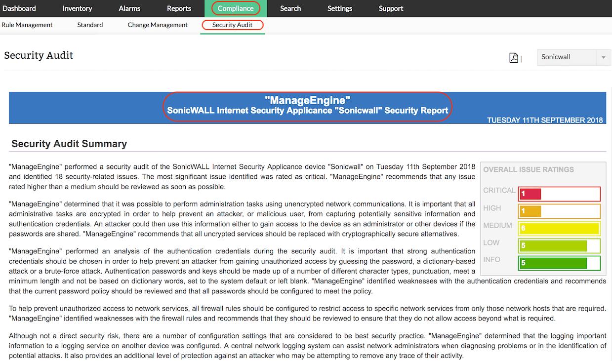 Firewall Security Checklist & Report - ManageEngine Firewall Analyzer