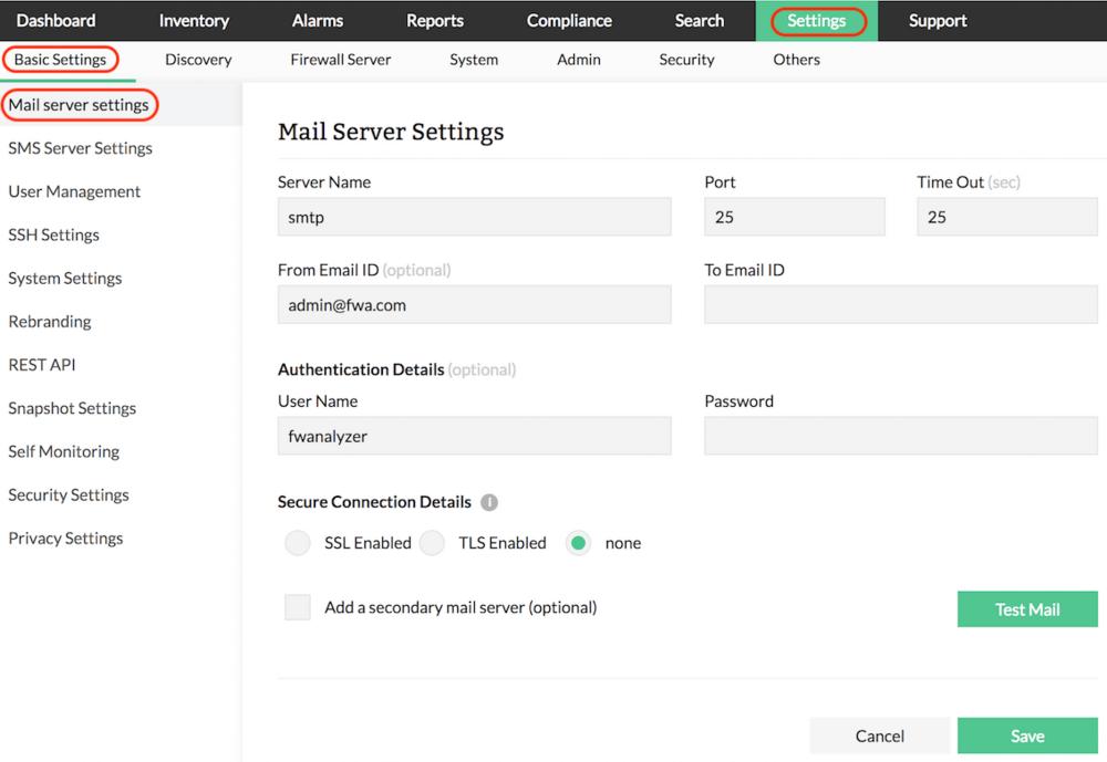 Firewall Alert Triggered - ManageEngine Firewall Analyzer