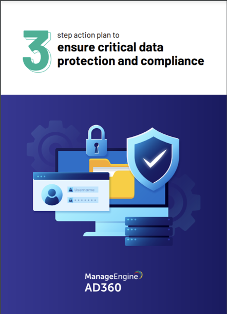Plan to ensure critical data protection and compliance