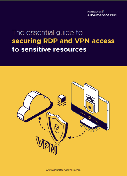 Secure RDP and VPN access with MFA