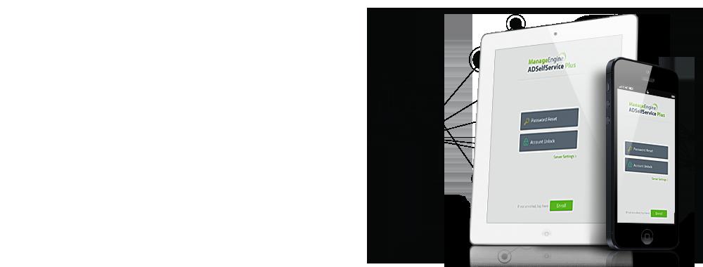 Aplicación de ADSelfService Plus para iPhone