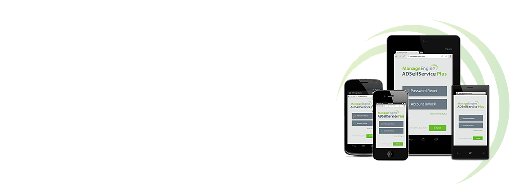 Aplicación web de ADSelfService Plus