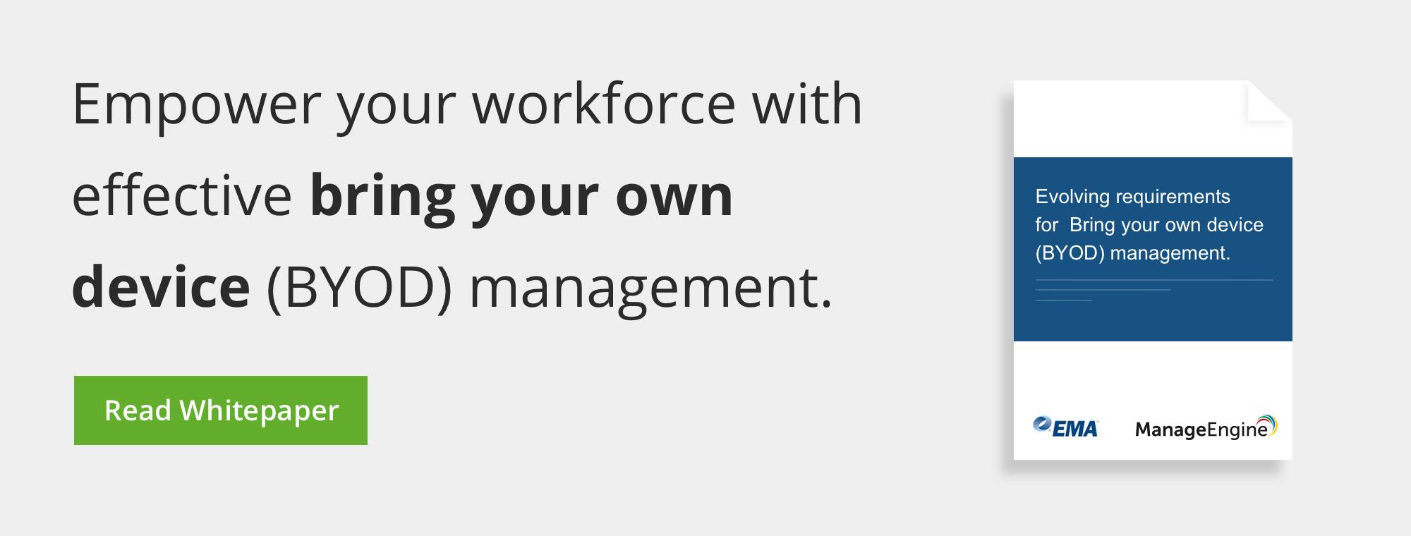 Fortalezca a su personal con una administración BYOD efectiva.