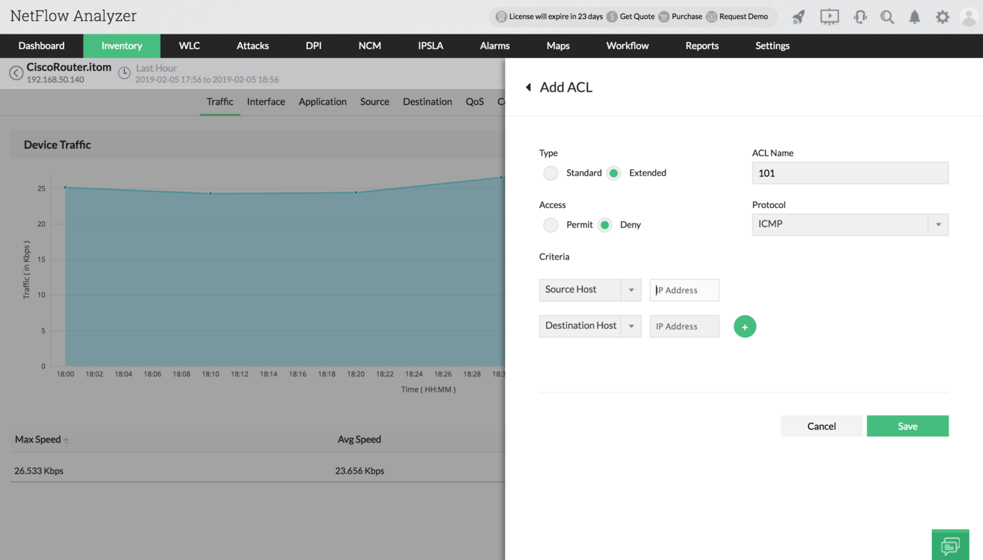 Quality of Service(QoS) Configuration - ManageEngine NetFlow Analyzer