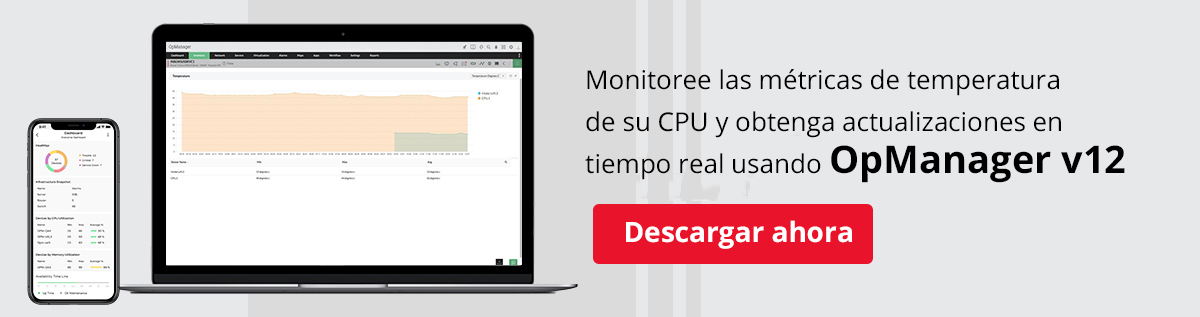 CPU Temp Monitor - ManageEngine OpManager
