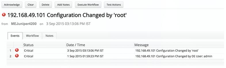 Network Configuration Change Alert - ManageEngine OpManager