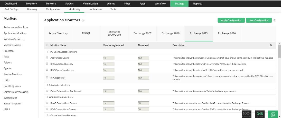 Microsoft Exchange WMI Server Monitor