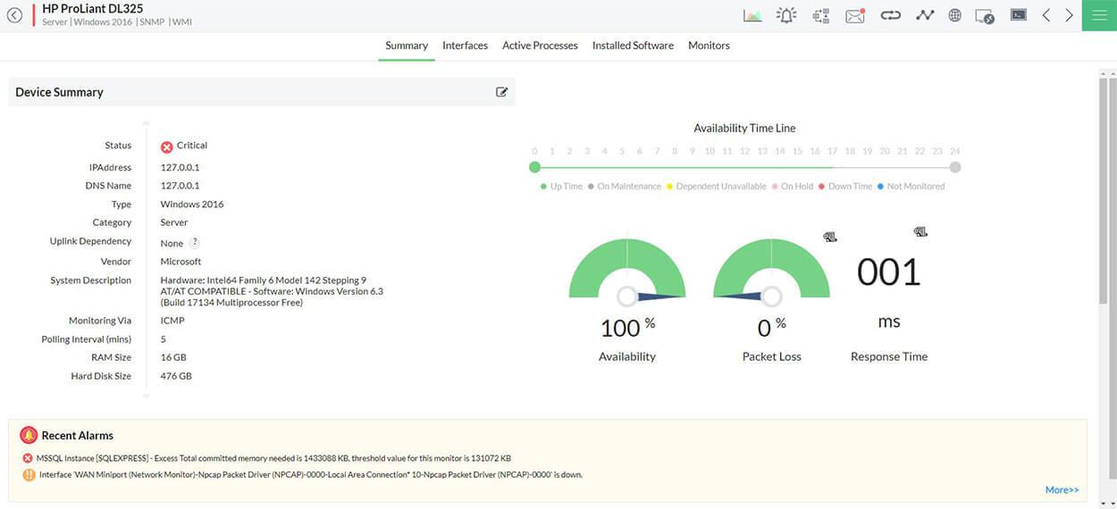HP Server Health Monitoring Tools