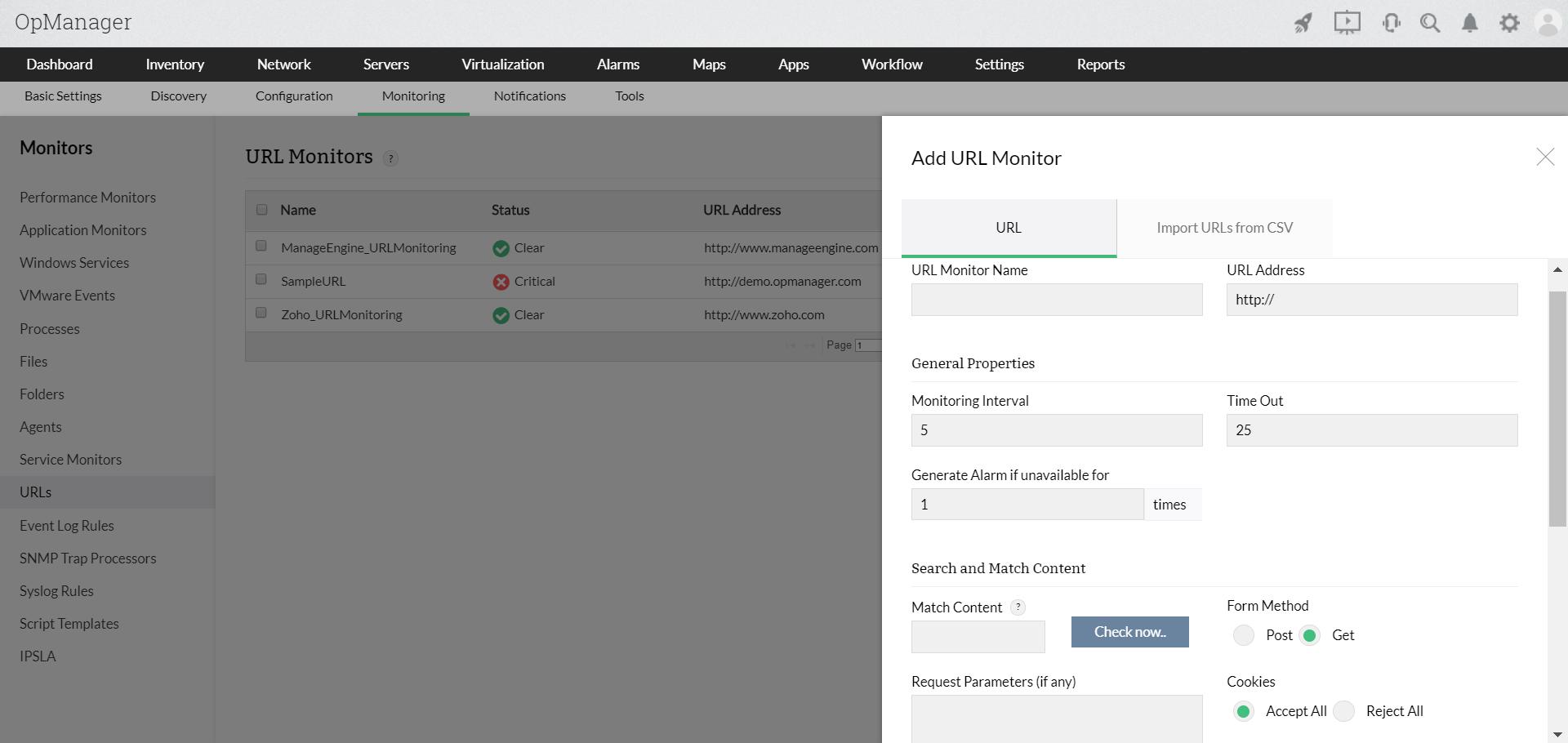 URL Monitoring