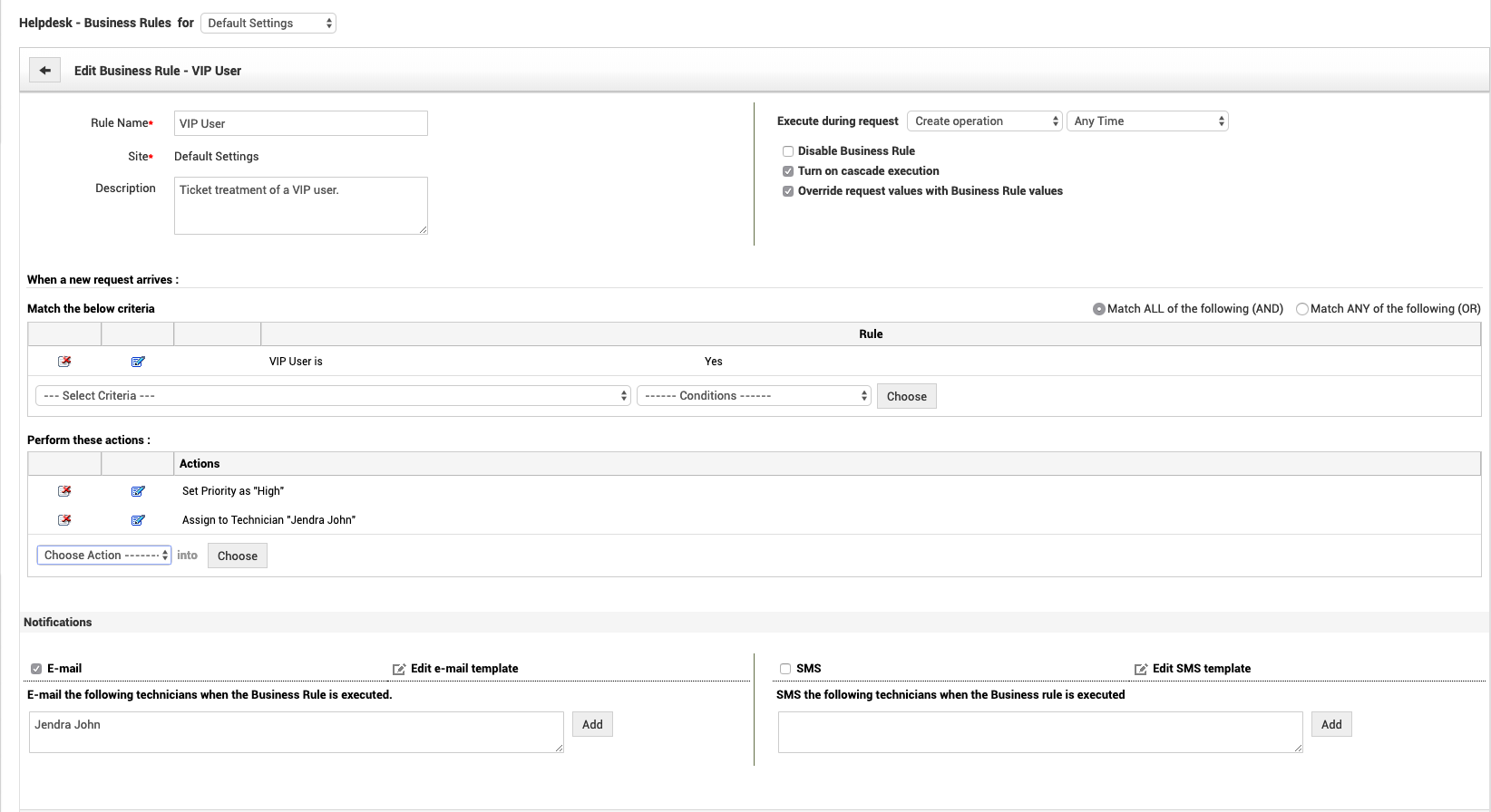 Service desk automation : ticket rules