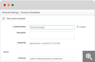 Custom schedules