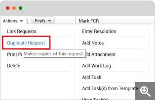 Duplicate service request