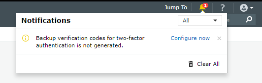 Registering for backup verification code