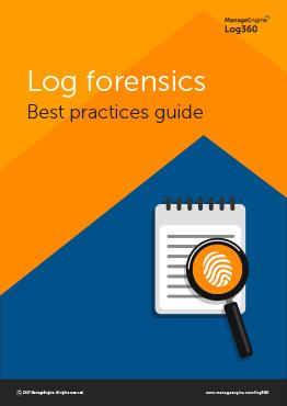 Log forensics best practices