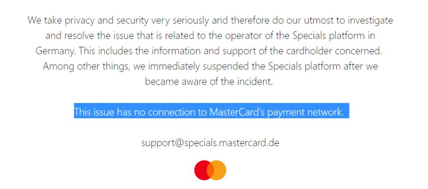 mastercard statement