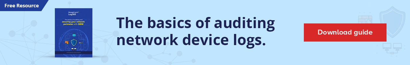 Basics of auditig network device logs