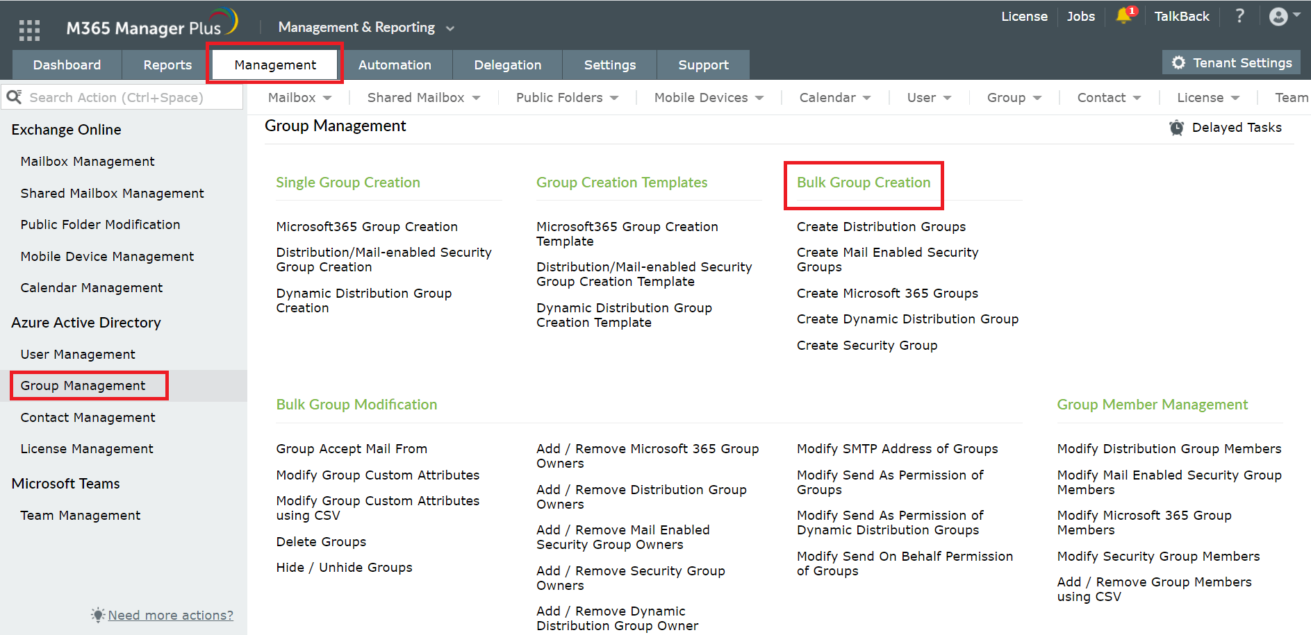 How to manage groups in Azure AD