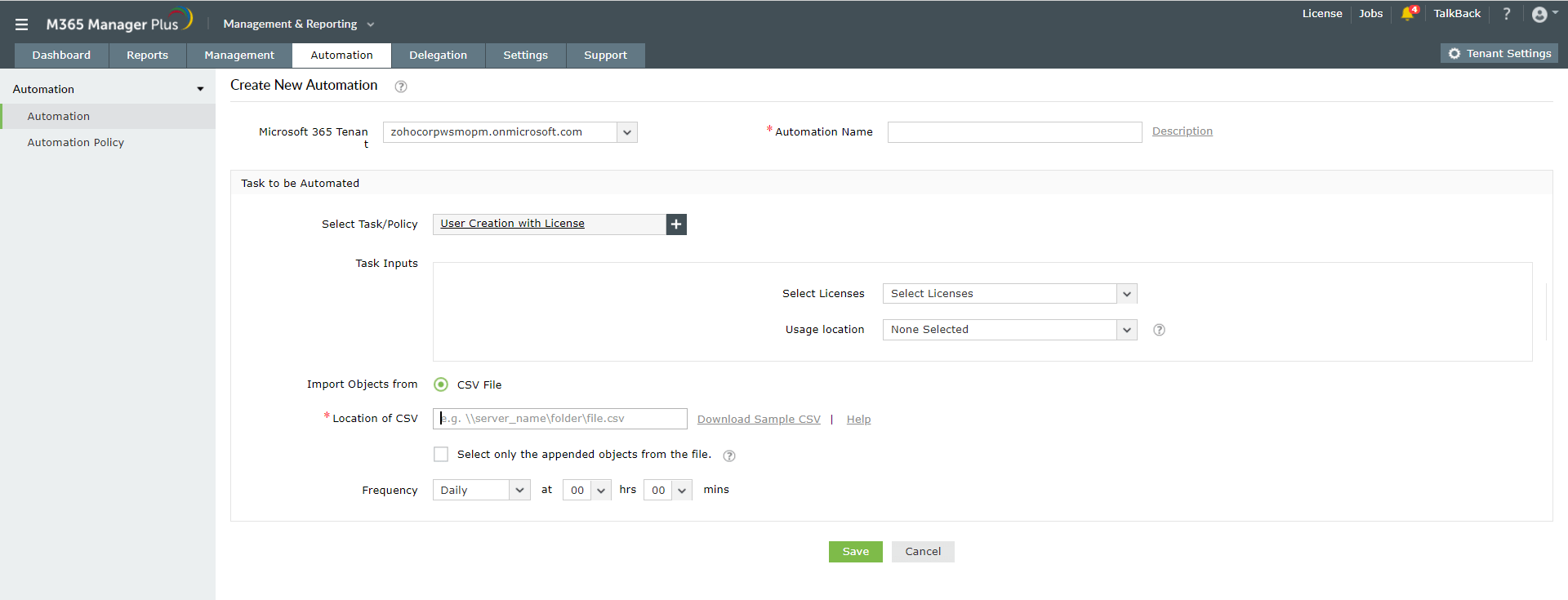 microsoft-365 Template Managment Automation
