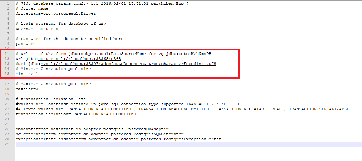 Identify The Current Database Of M365 Manager Plus
