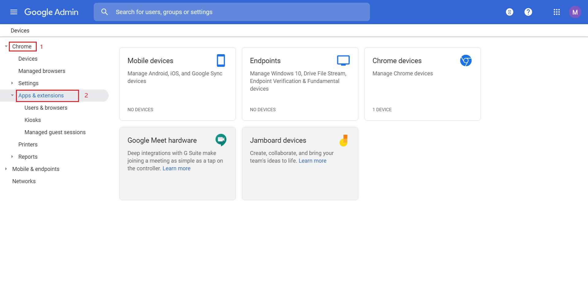 Chrome integration using G Suite
