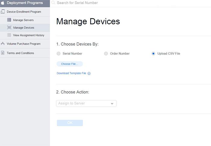 Uploading CSV to Apple Device Enrollment Program