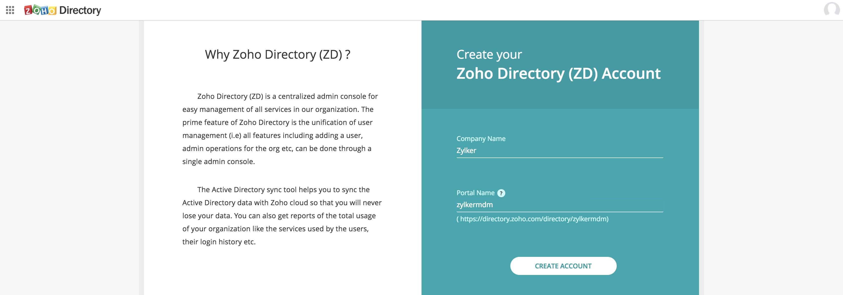 Microsoft Active Directory Integration Step 1