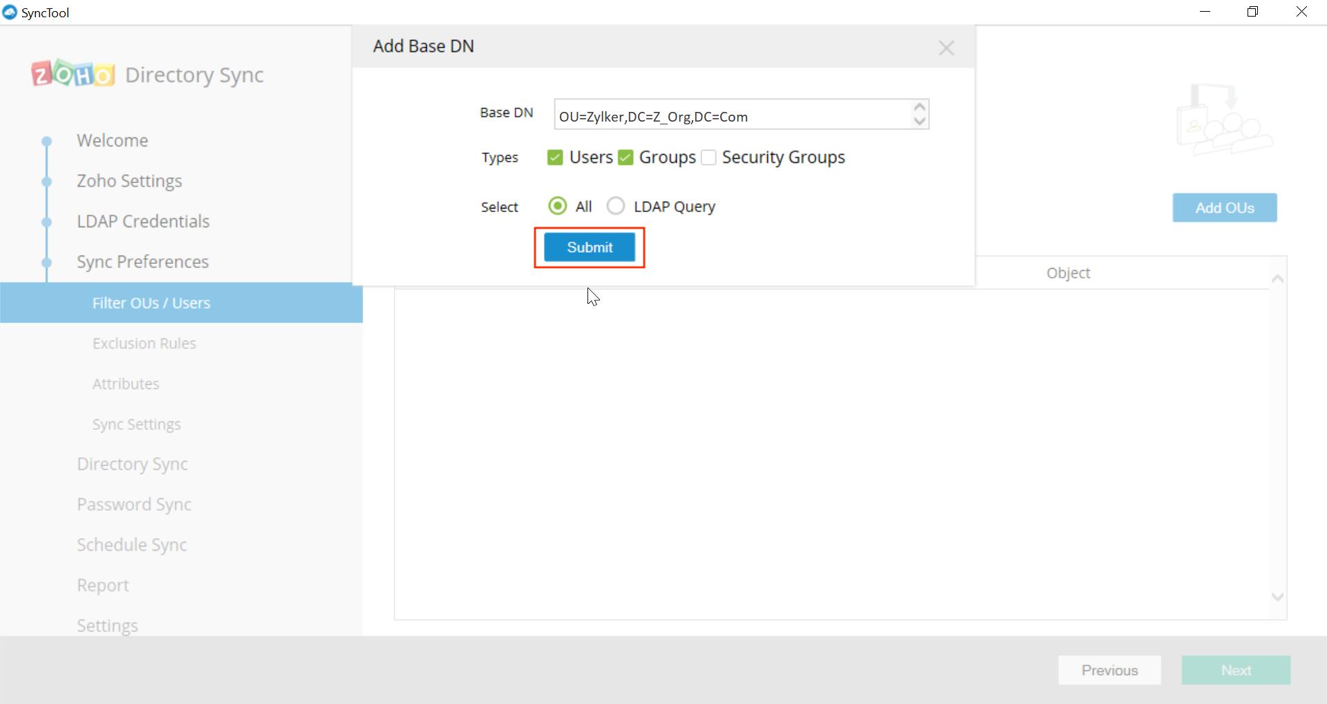 Microsoft Active Directory Integration Step 24