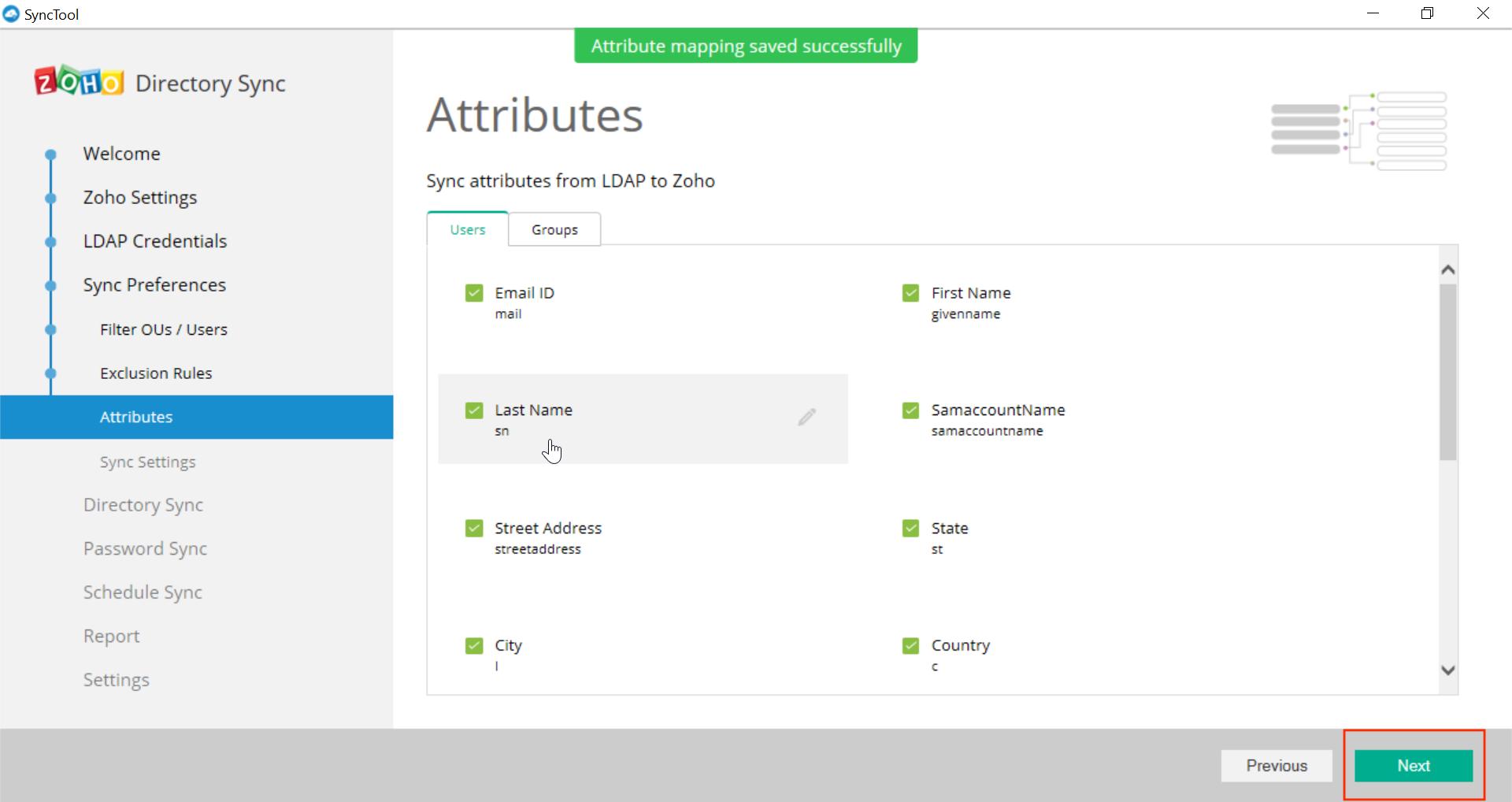 Microsoft Active Directory Integration Step 30