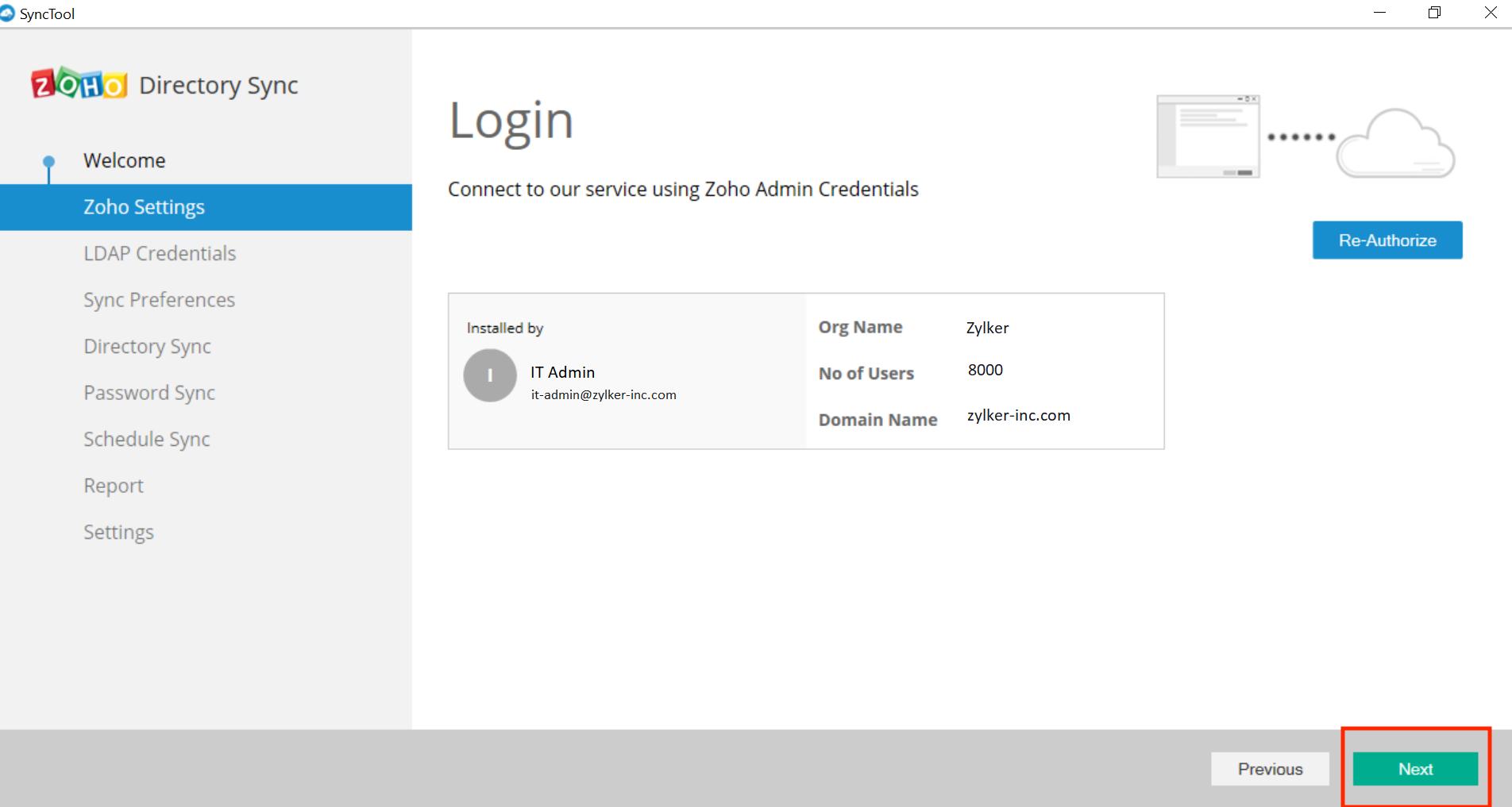 Microsoft Active Directory Integration Step 11