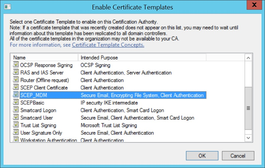 Configure SCEP for Windows Step 15