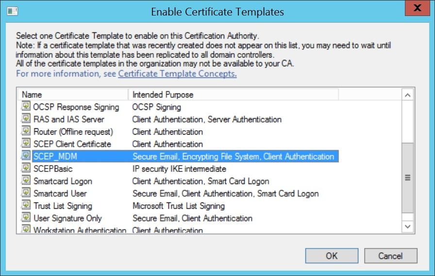 Configure SCEP for iOS Step 15
