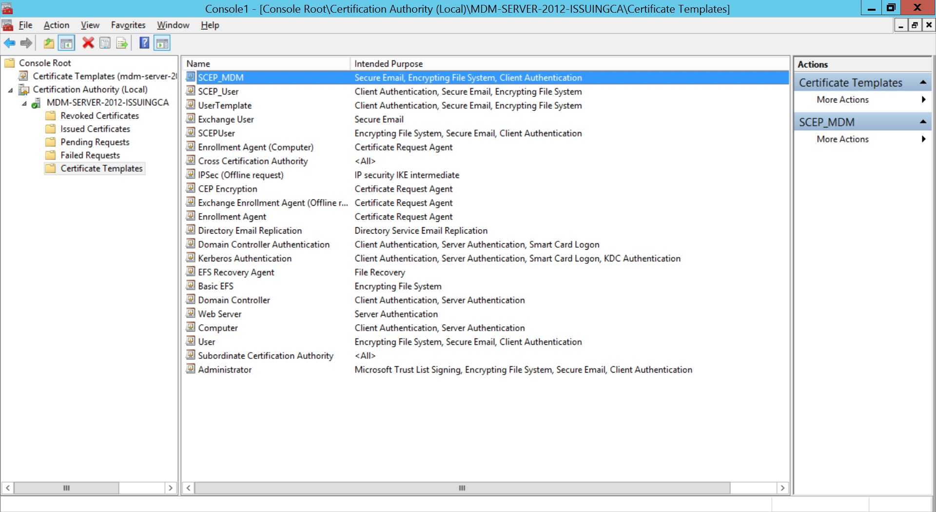 Configure SCEP for Windows Step 16