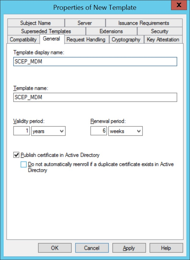 Configure SCEP for Windows Step 4
