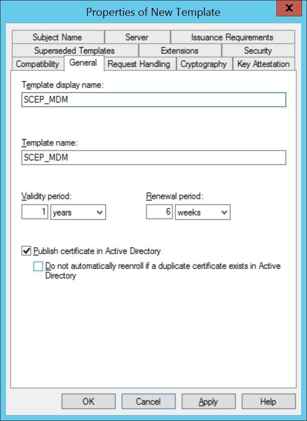 Configure SCEP for iOS Step 4