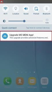 Samsung ME MDM app upgrade step 1