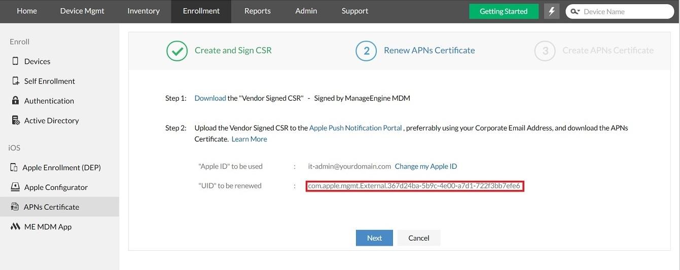 Renew Apns Certificate
