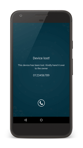 Lost Mode on a Geotracked Android device