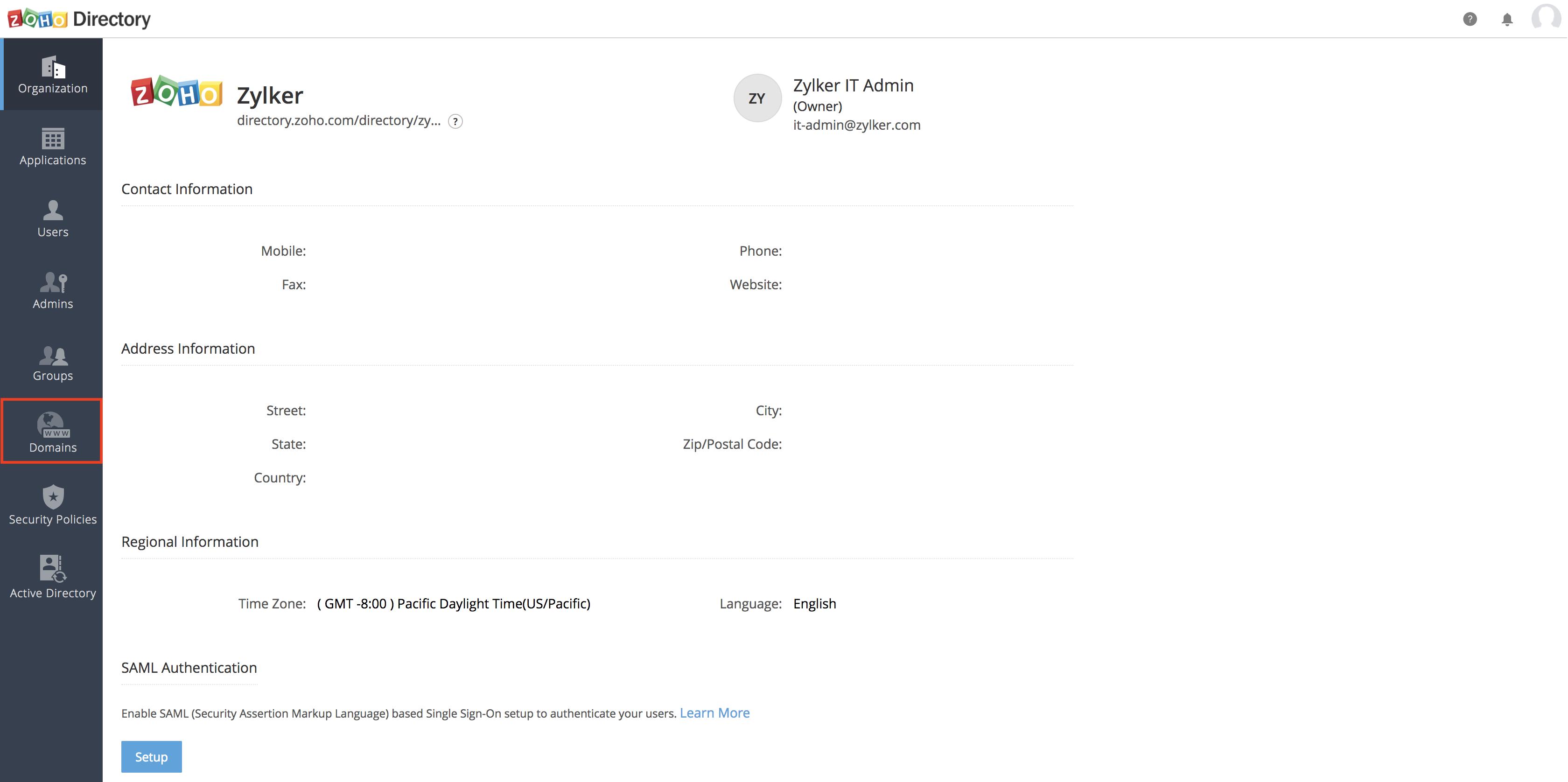 Integración con Microsoft Active Directory, paso 2
