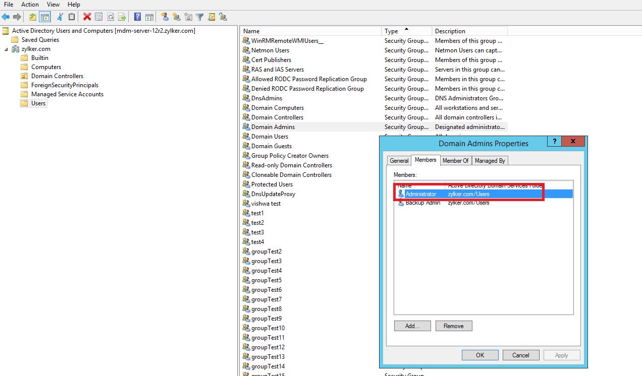 Microsoft Active Directory Integration Step 18