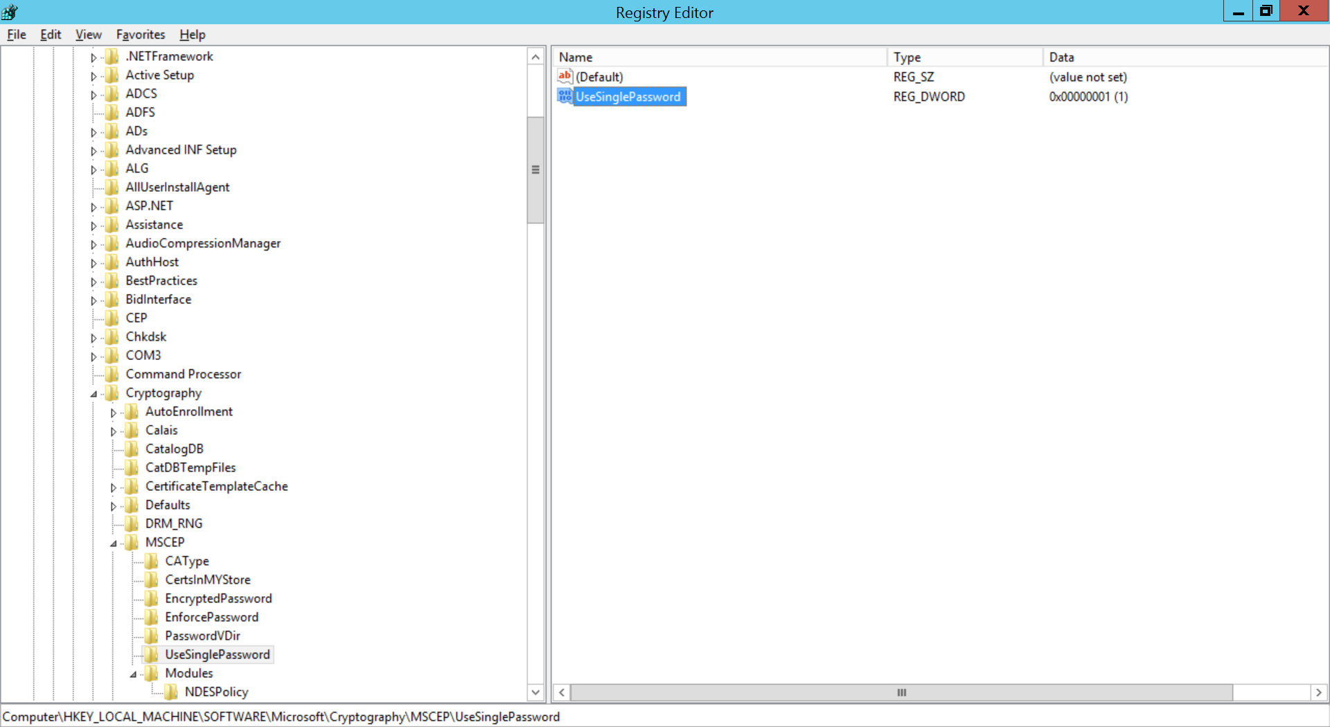 Configure SCEP for Windows Step 19