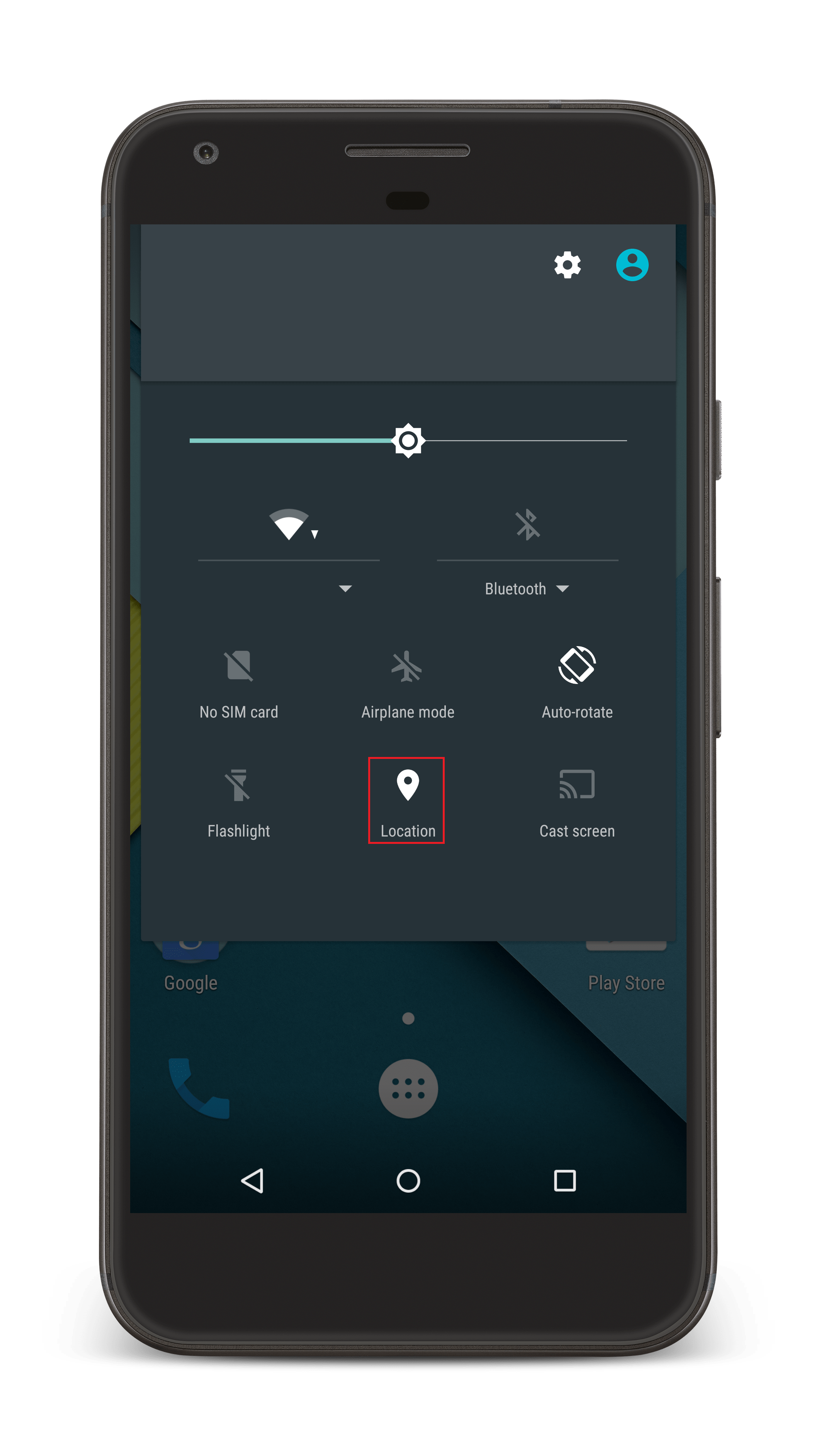 Location icon on Status Bar for Android Geotracking