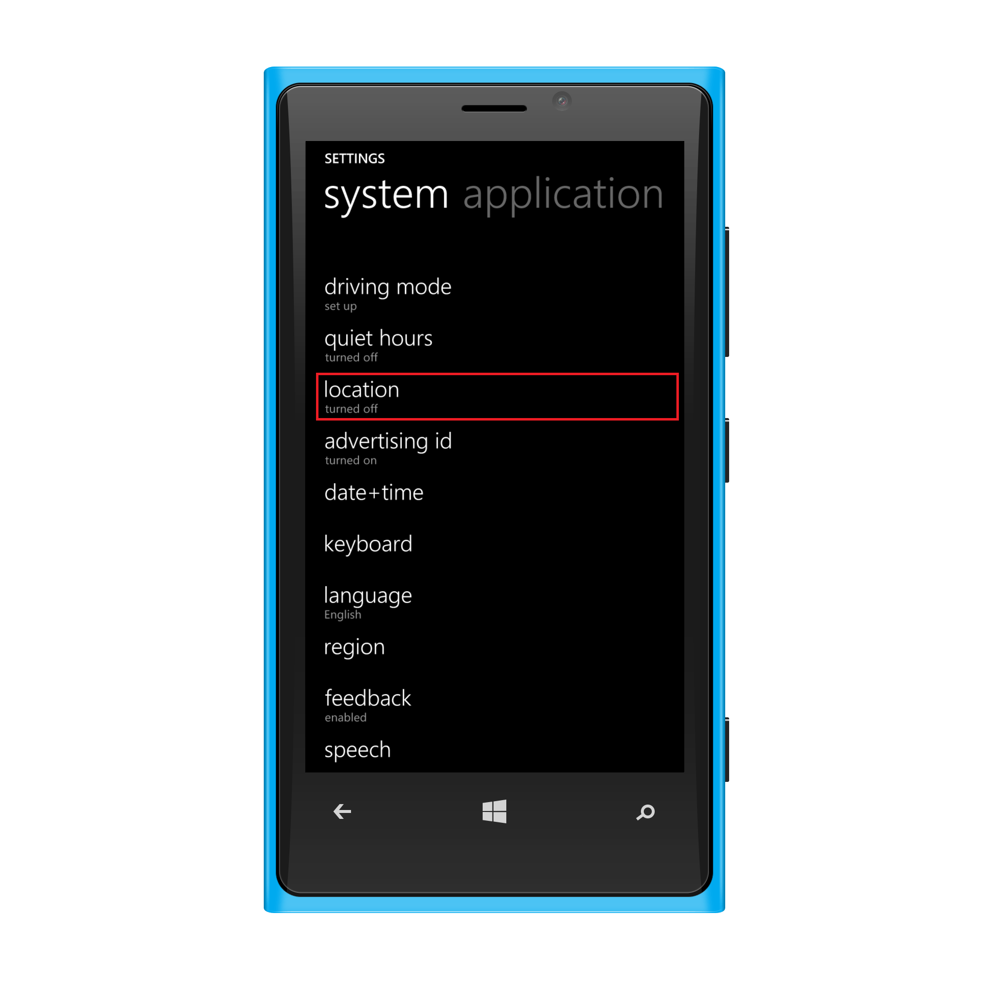 Selecting Location services for Geotracking Windows phone
