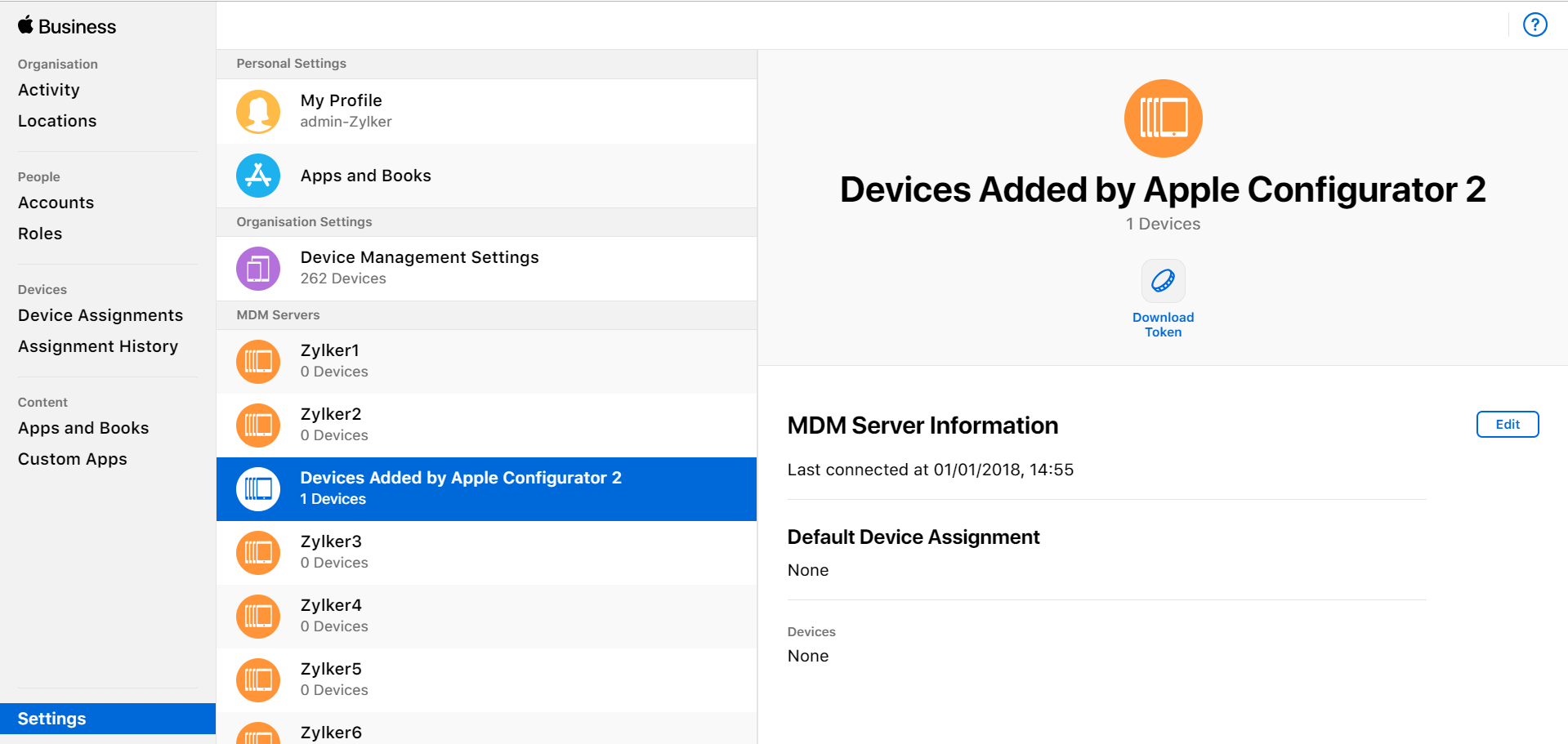 Enroll any iOS device to ABM - Enrollment | ManageEngine